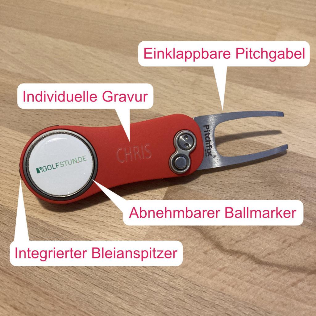 Pitchgabel PITCHFIX 2.0 mit Gravur